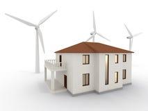 Casa da energia alternativa Fotografia de Stock Royalty Free