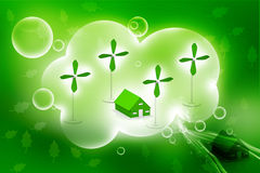Casa da energia alternativa Fotografia de Stock