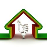 Casa da energia. Conceito da economia de energia