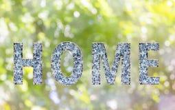 A casa da escrita da palavra e do alfabeto na textura de mármore denomina a fonte Imagem de Stock Royalty Free