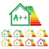 Casa da etiqueta do uso eficaz da energia Fotos de Stock Royalty Free