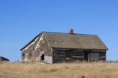 Casa da exploração agrícola do abandono Fotografia de Stock