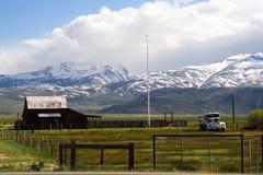 Casa da exploração agrícola na rota 66 Foto de Stock Royalty Free