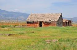 Casa da exploração agrícola, oeste americano Imagens de Stock