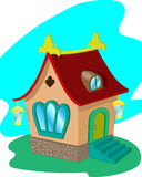 Casa da fada dos desenhos animados Fotos de Stock Royalty Free