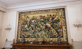 CASA DA FAMÍLIA DE CEAUSESCU - MUSEU DO PALÁCIO DE PRIMAVERII fotografia de stock