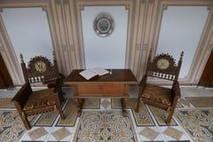CASA DA FAMÍLIA DE CEAUSESCU - MUSEU DO PALÁCIO DE PRIMAVERII imagens de stock
