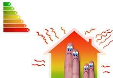 Casa com uma classificação má da energia Foto de Stock