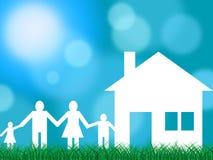 A casa da família indica famílias prole e crianças ilustração royalty free