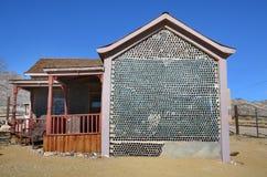 Casa da garrafa no Rhyolite, Nevada, EUA Fotografia de Stock