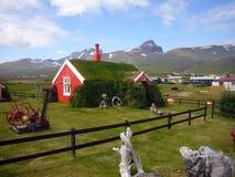 Casa da grama de Islândia Fotografia de Stock
