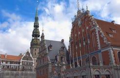 Casa da igreja das pústulas e do ` s de St Peter em Riga Fotografia de Stock Royalty Free