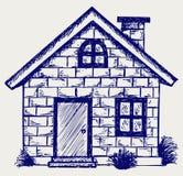 Casa da ilustração Fotos de Stock