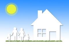 Casa da ilustração e conceito de família Imagens de Stock Royalty Free