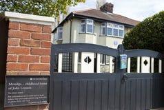 Casa da infância de John Lennon em Liverpool Fotos de Stock