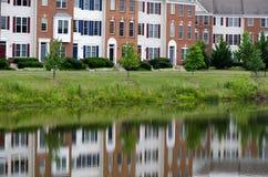 Casa da lagoa de água Imagens de Stock