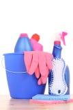 Casa da limpeza Fotografia de Stock Royalty Free