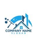Casa da limpeza e sumário do seguro comercial da construção Imagens de Stock