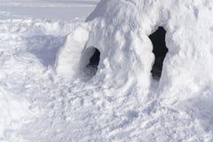 Casa da neve para crianças imagem de stock