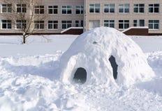 Casa da neve para crianças fotos de stock royalty free