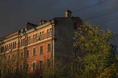 Casa da noite Foto de Stock Royalty Free