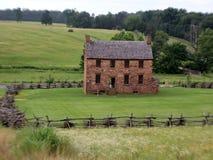 Casa da pedra da era da guerra civil Foto de Stock