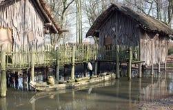 Casa da pilha com barco Fotografia de Stock
