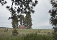 Casa da quinta abandonada velha Fotografia de Stock