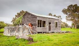 Casa da quinta australiana abandonada Fotografia de Stock