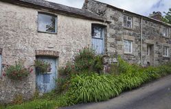 Casa da quinta córnico velha, Cornualha, Inglaterra fotografia de stock royalty free