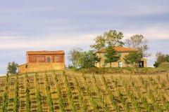 Casa da quinta clássica de Tuscan Foto de Stock