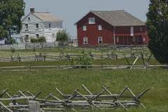 Casa da quinta de Gettysburg ao lado do celeiro fotos de stock royalty free