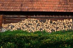 Casa da quinta de madeira Imagens de Stock Royalty Free