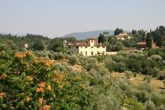 Casa da quinta de Tuscan Fotografia de Stock Royalty Free