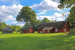 Casa da quinta e pátio Fotografia de Stock