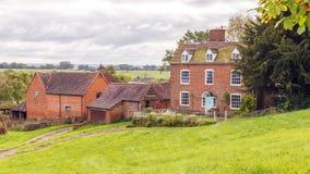 Casa da quinta inglesa velha, Worcestershire, Inglaterra Imagem de Stock Royalty Free