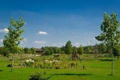 Casa da quinta rural da paisagem Fotos de Stock Royalty Free