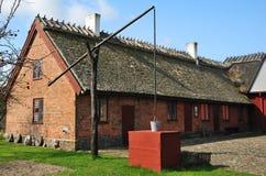 Casa da quinta sueco velha Fotos de Stock Royalty Free