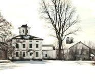 Casa da quinta velha abandonada Imagem de Stock Royalty Free
