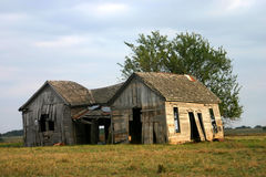 Casa da quinta velha abandonada Fotografia de Stock
