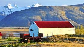 Casa da quinta velha no por do sol Fotografia de Stock Royalty Free