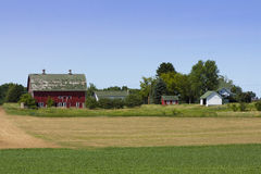 Casa da quinta vermelha Imagem de Stock Royalty Free