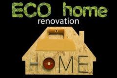 Casa da renovação de Eco Imagem de Stock