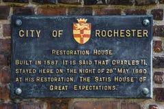 Casa da restauração em Rochester, Reino Unido Foto de Stock