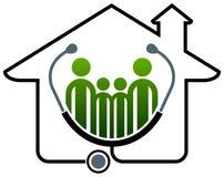 Casa da saúde da família Imagens de Stock Royalty Free