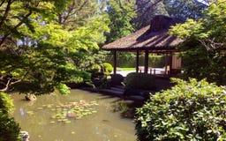 Casa da tè al giardino giapponese Fotografia Stock Libera da Diritti