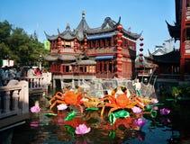 Casa da tè del cinese tradizionale Immagini Stock