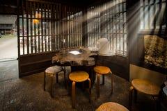 Casa da tè del villaggio nel Giappone Fotografia Stock Libera da Diritti