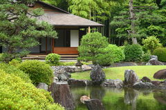 Casa da tè nel Giappone Fotografie Stock Libere da Diritti