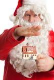 Casa da terra arrendada de Papai Noel Fotos de Stock